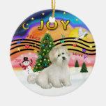 Música 2 de Navidad - algodón de Tulear Adorno Para Reyes
