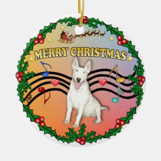 Música 2 de Navidad - bull terrier 4 Adorno