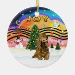 Música 2 de Navidad - cocker (marrón) Ornamentos De Reyes Magos