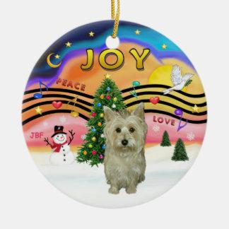 Música 2 de Navidad - mojón Terrier (S2) Adorno Para Reyes