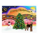 Música 2 del navidad - Airedale (soporte) Postal