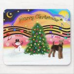 Música 2 del navidad - Airedale (soporte) Alfombrilla De Raton