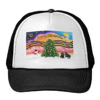 Música 2 del navidad - barros amasados negro dos gorra