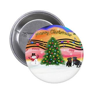 Música 2 del navidad - barros amasados () pin redondo 5 cm