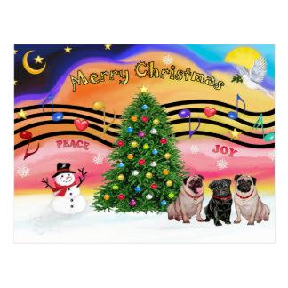 Música 2 del navidad - barros amasados tarjetas postales