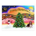 Música 2 del navidad - Basset Hound Postal