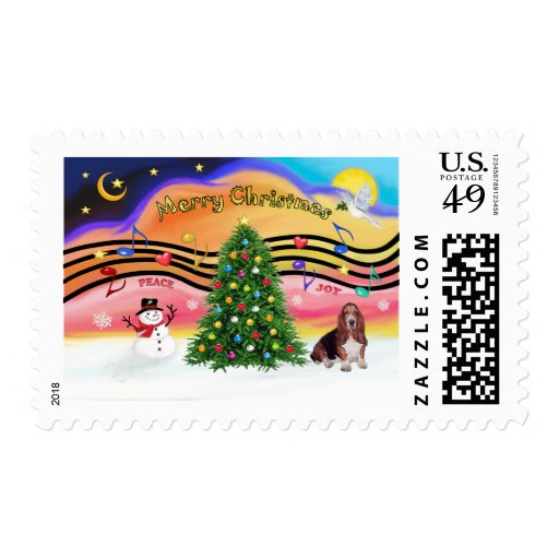 Música 2 del navidad - Basset Hound Sellos