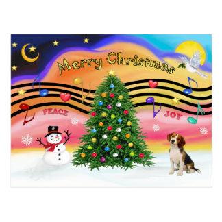Música 2 del navidad - beagle 1 postal