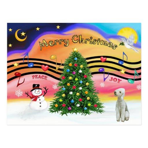 Música 2 del navidad - Bedlington Terrier Postal