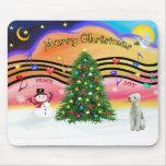 Música 2 del navidad - Bedlington Terrier Alfombrillas De Ratón