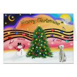 Música 2 del navidad - Bedlington Terrier Felicitación