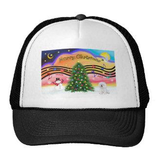 Música 2 del navidad - Bichon 1 Gorros Bordados