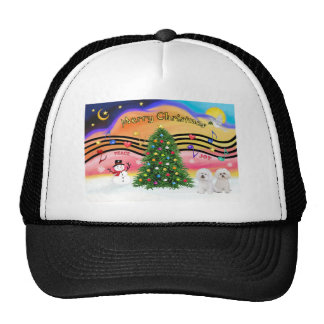 Música 2 del navidad - Bichon Frise (dos) Gorras De Camionero