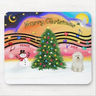 Música 2 del navidad - boloñés alfombrillas de raton