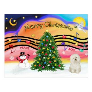 Música 2 del navidad - boloñés postal