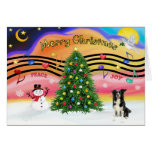 Música 2 del navidad - border collie felicitaciones