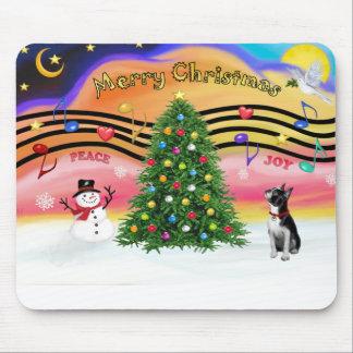 Música 2 del navidad - BostonTerrier2 Alfombrillas De Ratones
