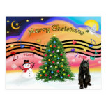 Música 2 del navidad - Bouvier (negro) Postal