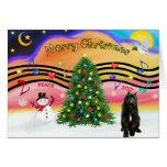 Música 2 del navidad - Bouvier (negro) Tarjeta