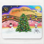 Música 2 del navidad - bull terrier 1 tapetes de ratón