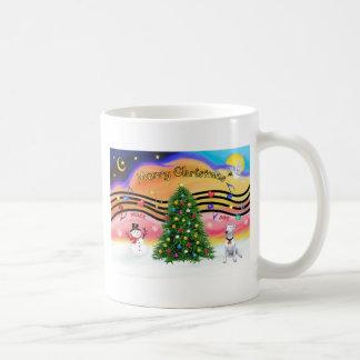 Música 2 del navidad - bull terrier 1 taza básica blanca
