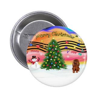 Música 2 del navidad - caballeros (rubí) pin redondo 5 cm