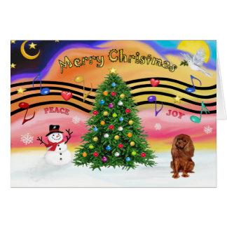 Música 2 del navidad - caballeros (rubí) tarjeta de felicitación