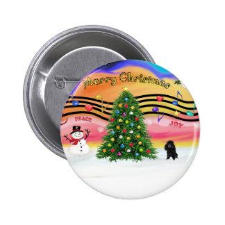 Música 2 del navidad - caniche (blackToy) Pin