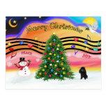Música 2 del navidad - caniche (blackToy) Postal