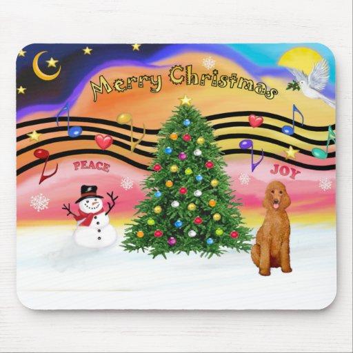 Música 2 del navidad - caniche (estándar del albar alfombrilla de raton