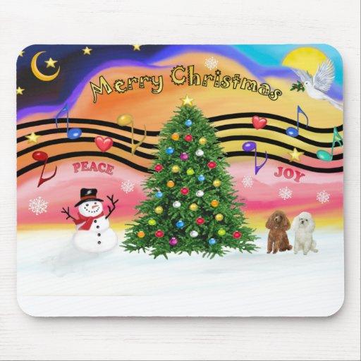Música 2 del navidad - caniches (albaricoque y bla alfombrillas de raton