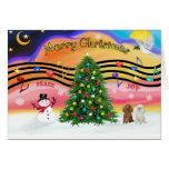 Música 2 del navidad - caniches (albaricoque y bla tarjeta