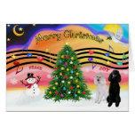 Música 2 del navidad - caniches (estándar 2) felicitaciones