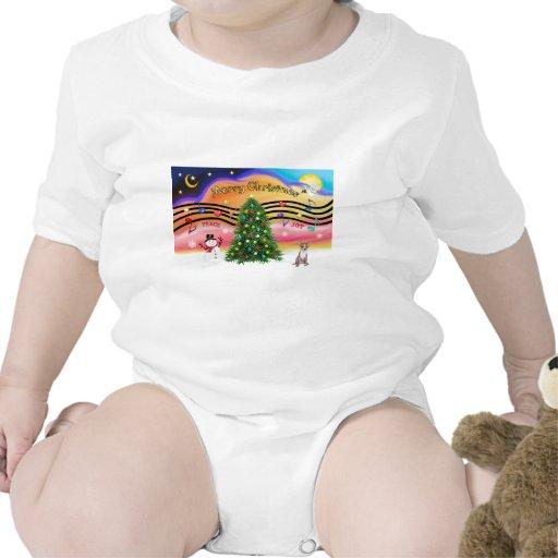 Música 2 del navidad - chihuahua (cervatillo) traje de bebé