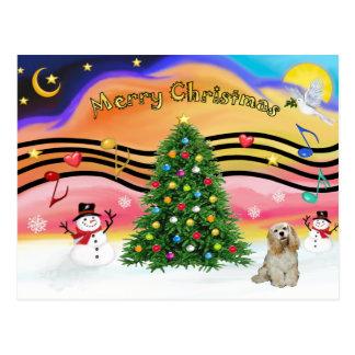 Música 2 del navidad - cocker (piel de ante) postales