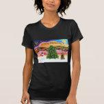 Música 2 del navidad - cocker spaniel (marrón) camisetas