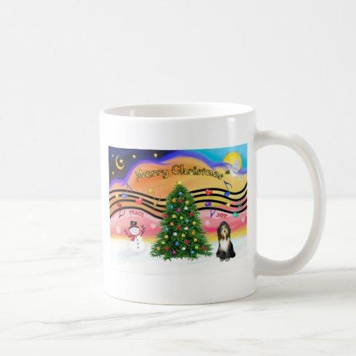 Música 2 del navidad - collie barbudo 9 taza de café