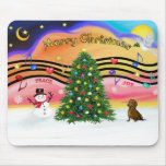 Música 2 del navidad - Dachshund () Tapetes De Raton