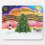 Música 2 del navidad - Dandie Dinmont (pimienta) Alfombrillas De Ratón
