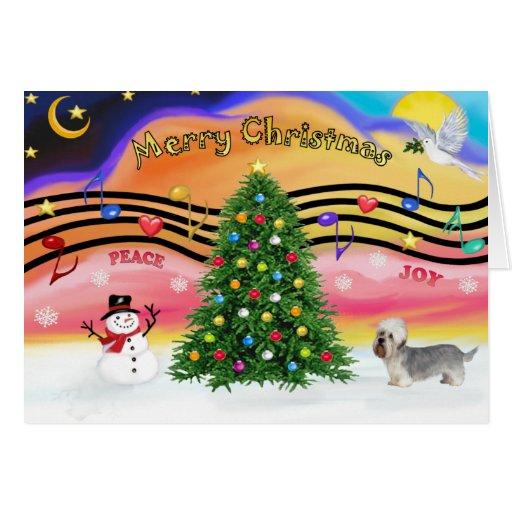 Música 2 del navidad - Dandie Dinmont (pimienta) Tarjetón