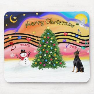 Música 2 del navidad - Doberman 1 Tapetes De Raton