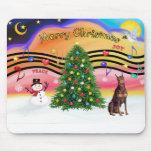 Música 2 del navidad - Doberman rojo Alfombrillas De Raton