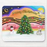 Música 2 del navidad - dogo francés 1 tapete de raton