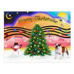 Música 2 del navidad - dogo inglés (5) postal