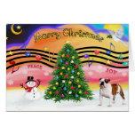 Música 2 del navidad - dogo inglés (5) tarjetón