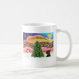 Música 2 del navidad - escocés Terrier 12 Tazas