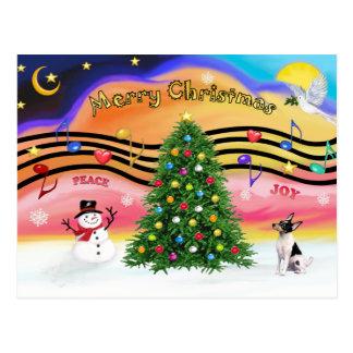 Música 2 del navidad - fox terrier del juguete tarjetas postales