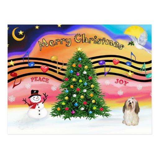 Música 2 del navidad - Havanese 2 Postal