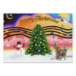 Música 2 del navidad - husky siberiano (rojo dos) tarjetas