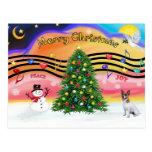 Música 2 del navidad - Jack Russell Terrier Postales